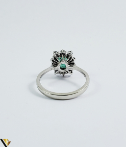 Inel aur 18 k, Diamante cca 0.50 ct in total, Smarald, 3.32 gr (SED)2