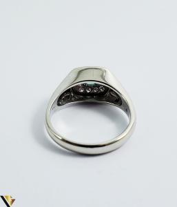 Inel Aur 18k, Diamante cca 0.18 ct in total, Smarald, 5.37 grame (Sed)2