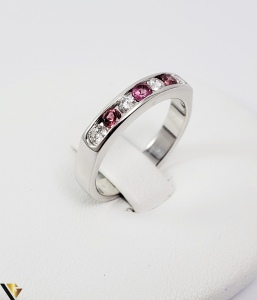 Inel Aur alb 14 k, Diamante cca 0.20 ct in total, 3.45 gr (SED)0