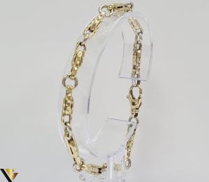 """Bratara din aur 14k, 585 5.49 grame Latime de 4.2 mm Lungime totala de 20 cm Marcaj cu titlul """"585"""" Locatie HARLAU [0]"""