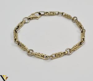 """Bratara din aur 14k, 585 5.49 grame Latime de 4.2 mm Lungime totala de 20 cm Marcaj cu titlul """"585"""" Locatie HARLAU [1]"""