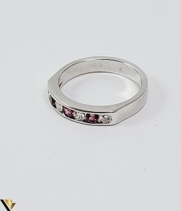 Inel Aur alb 14 k, Diamante cca 0.20 ct in total, 3.45 gr (SED)2