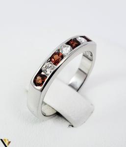 Inel Aur alb 14 k, Diamante cca 0.18 ct in total, 3.47 gr (SED)0