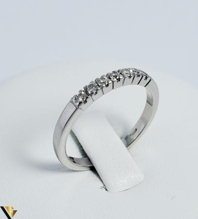 Inel Aur alb 18 k, Diamante cca 0.21 ct in total, 2.63 gr (R)0
