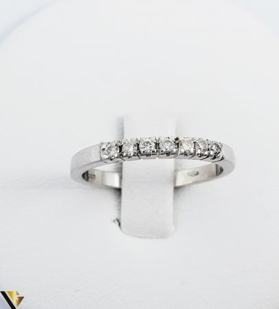 Inel Aur alb 18 k, Diamante cca 0.21 ct in total, 2.63 gr (R)1