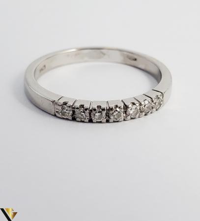 Inel Aur alb 18 k, Diamante cca 0.21 ct in total, 2.63 gr (R)2