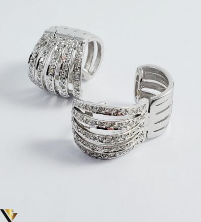 Cercei Aur alb 14 k, Diamante cca 0.63 ct in total, 10.91 gr (SED) [2]