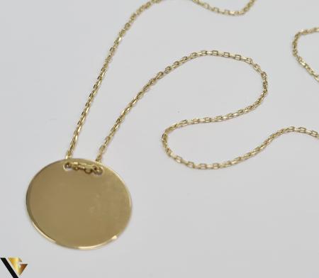 """Lant din aur 14k, 585 1.87 grame Lungime de 42 cm Dimensiunile pandativului 13mm/13mm Latime de 0.45 mm Marcaj cu titlul """"585"""" Locatie HARLAU [1]"""