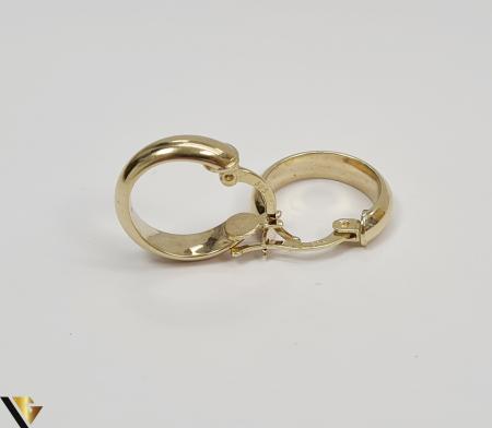Cercei din aur  14k, 585 2.00grame Lungimea cerceilor 16mm Latimea cerceilor3.5mm Marcaj cu titlul 585 Locatia HARLAU [1]
