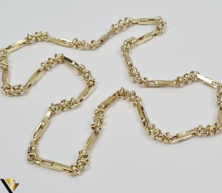 """Lant din aur 14k, 585 12.00 grame Lungime de 56 cm Latime de 5.0 mm Marcaj cu titlul """"585"""" Locatie HARLAU [1]"""