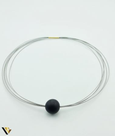 Colier Inox cu Incuietoare din Aur 18k (R) [0]