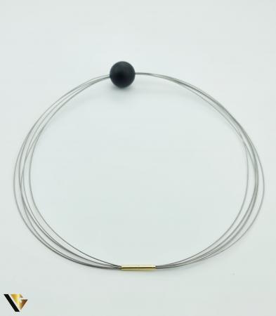 Colier Inox cu Incuietoare din Aur 18k (R) [1]