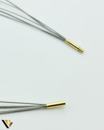 Colier Inox cu Incuietoare din Aur 18k (R) [2]