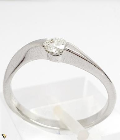 Inel aur 18K, Diamant de 0.16 ct, 2.29 grame (BC M) [0]