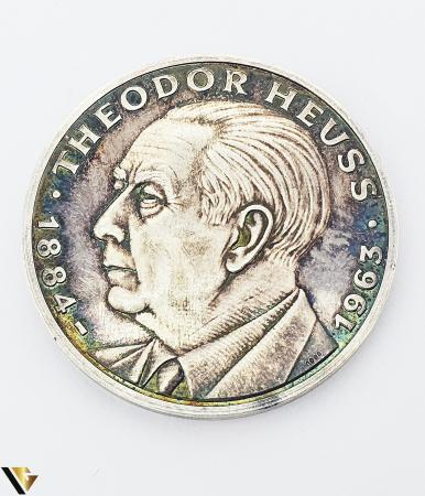 Placheta Argint 1000, 1984, Theodor Heuss, 24.35 grame (P) [1]