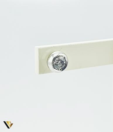 Cercel Aur 18k, Diamant de cca. 0.15 ct, 0.90 grame (P) [0]