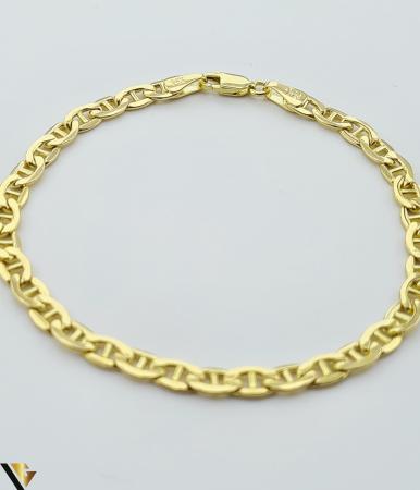 """Bratara din aur 14k, 585 4.77 grame Latime de 4.2 mm Lungime totala de 20 cm Marcaj cu titlul """"585"""" Locatie HARLAU [3]"""