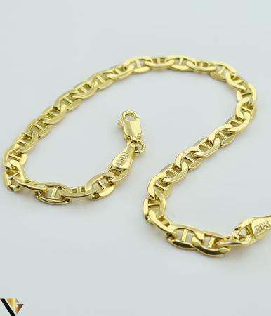 """Bratara din aur 14k, 585 4.77 grame Latime de 4.2 mm Lungime totala de 20 cm Marcaj cu titlul """"585"""" Locatie HARLAU [1]"""