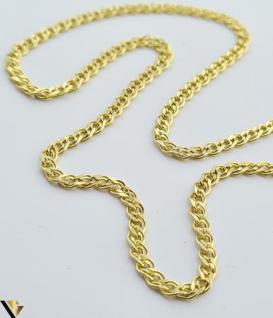 """Lant din aur 14k, 585 3.29 grame Lungime de 50 cm Latime de 2.5 mm Marcaj cu titlul """"585"""" Locatie HARLAU [1]"""