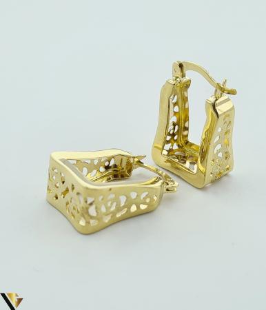 Cercei din aur  14k, 585 3.46grame Lungimea cerceilor 20mm Latimea cerceilor 7.5mm Marcaj cu titlul 585 Locatia HARLAU [3]