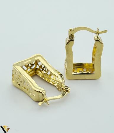 Cercei din aur  14k, 585 3.46grame Lungimea cerceilor 20mm Latimea cerceilor 7.5mm Marcaj cu titlul 585 Locatia HARLAU [2]
