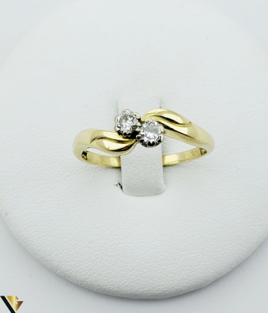 Inel aur 18 k, Diamante cca 0.20 ct in total, 4.17 gr (R) [1]