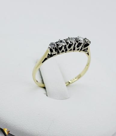 Inel aur 14 k, Diamante cca 0.18 ct in total, 1.11 gr (SED) [1]