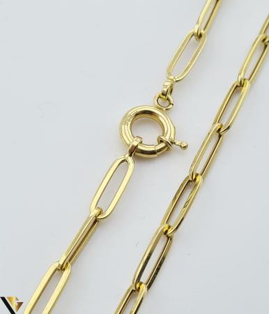 """Lant din aur 14k, 585 6.80 grame Lungime de 55 cm Latime de 4.2 mm Marcaj cu titlul """"585"""" Locatie HARLAU [1]"""
