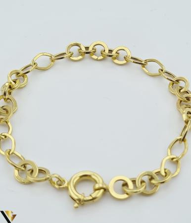 """Bratara din aur 14k, 585 4.51 grame Latime de 5. mm Lungime totala de 20cm Marcaj cu titlul """"585"""" Locatie HARLAU [2]"""