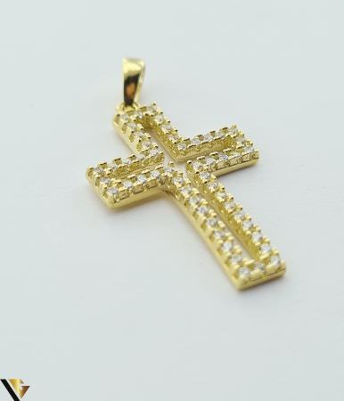 Pandantiv din aur 14k, 585 1.38 grame Lungimea pandantivului cu anou este de 26.5 mm Latimea pandantivului este de 14mm Locatie HARLAU [1]