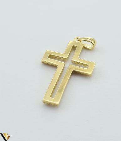 Pandantiv din aur 14k, 585 1.38 grame Lungimea pandantivului cu anou este de 26.5 mm Latimea pandantivului este de 14mm Locatie HARLAU [2]