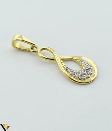 Pandantiv din aur 14k, 585 0.83 grame Lungimea pandantivului cu anou este de 23 mm Latimea pandantivului este de 8.5mm Locatie HARLAU [1]
