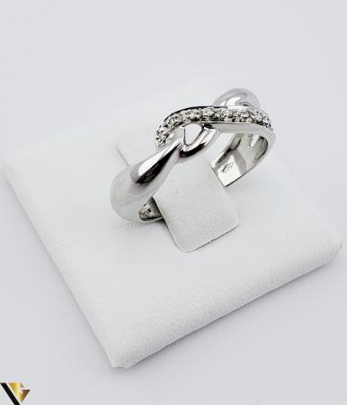 Inel Aur Alb 18k, Diamante de cca. 0.05 ct, 3.33 grame (sed) [0]