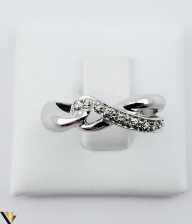 Inel Aur Alb 18k, Diamante de cca. 0.05 ct, 3.33 grame (sed) [1]
