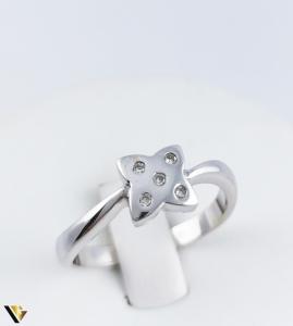 Inel Aur Alb 14k, Diamante de cca. 0.05 ct, 3.54 grame (R) [0]