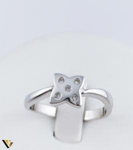 Inel Aur Alb 14k, Diamante de cca. 0.05 ct, 3.54 grame (R) [1]
