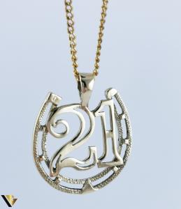 Pandantiv aur 9k, Cifra 21, 2.43 grame (R)0