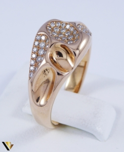 Set cu diamante cca. 0.58 ct., din aur rose 18k, 8.70 grame2