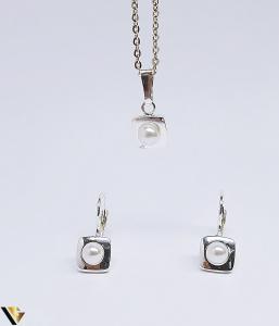 Set argint 925 format din cercei si pandantiv ,2.76 grame (BC R)0