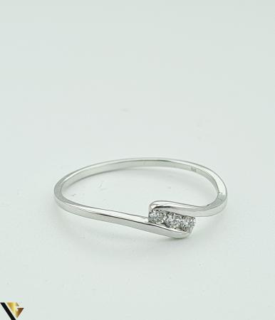 Inel Aur Alb 9k, Diamante de cca. 0.09 ct, 1.06 grame (R) [1]