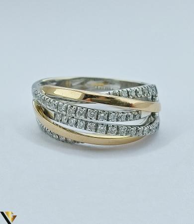 Inel Aur 18k, Diamante de cca. 0.42 ct, 10.06 grame (sed) [3]