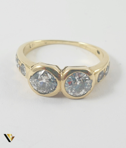 Inel Aur 14k, Diamante de cca 1.60 ct in total, 3.25 grame2