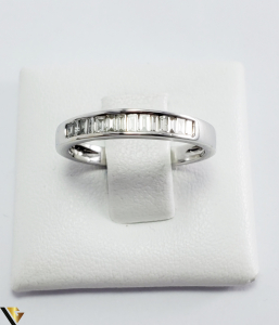 Inel Aur Alb 18k, Diamante bagheta cca 0.56ct, 2.55grame (PD) [3]