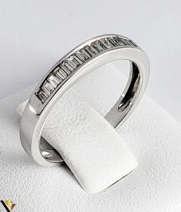 Inel Aur Alb 18k, Diamante bagheta cca 0.56ct, 2.55grame (PD) [0]