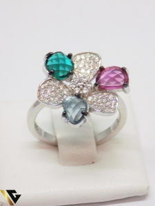 Inel din argint cu pietre din zirconiu, 4.71 grame (IS) [1]