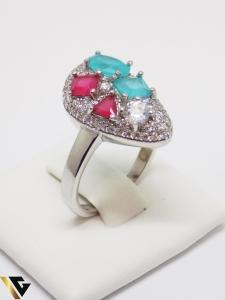 Inel din argint cu pietre din zirconiu, 5.38 grame (IS)0
