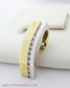 Pandant cu diamante de cca. 0.13 ct, din aur 14k, 3.11 grame (R)0