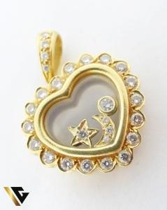 Pandant cu diamante de cca. 0.65 ct, din aur 18k, 9.26 grame0