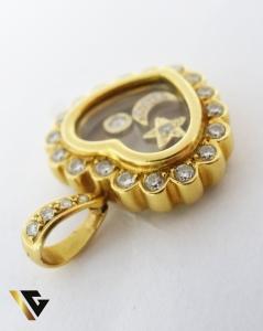 Pandant cu diamante de cca. 0.65 ct, din aur 18k, 9.26 grame2
