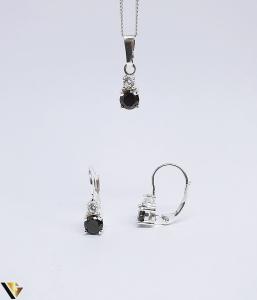 Set argint 925 format din cercei si pandantiv ,3.17 grame (BC R)1